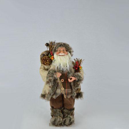 Χριστουγεννιάτικος Άγιος Βασίλης, λούτρινος 30cm