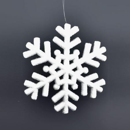 Διακοσμητική Χριστουγεννιάτικη κρεμαστή χιονονιφάδα 39 cm