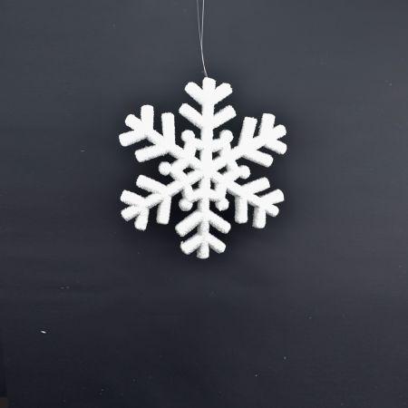 Διακοσμητική Χριστουγεννιάτικη κρεμαστή χιονονιφάδα 20cm