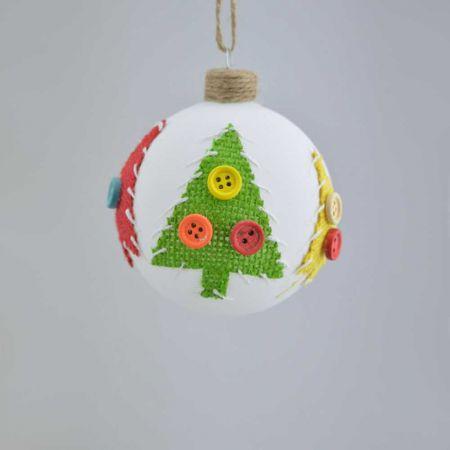 Χριστουγεννιάτικη μπάλα γυάλινη 8cm
