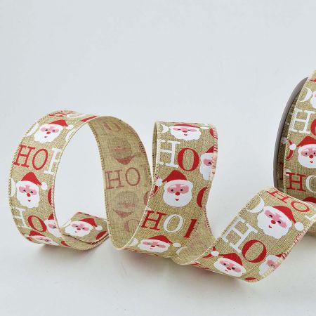 Χριστουγεννιάτικη κορδέλα λινάτσα ΗΟ ΗΟ ΗΟ 5cmx10m