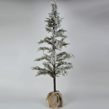 Χριστουγεννιάτικο χιονισμένο δεντράκι με τσουβαλάκι 170cm