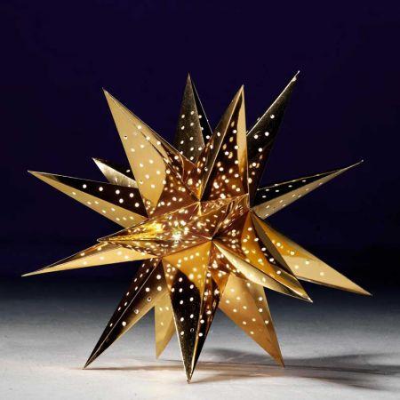 Κρεμαστό χάρτινο αστέρι τρισδιάστατο Χρυσό 75cm