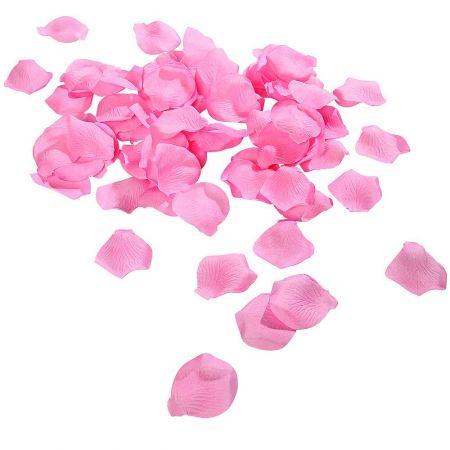 Σετ 100τχ υφασμάτινα ροδοπέταλα Ροζ 6cm