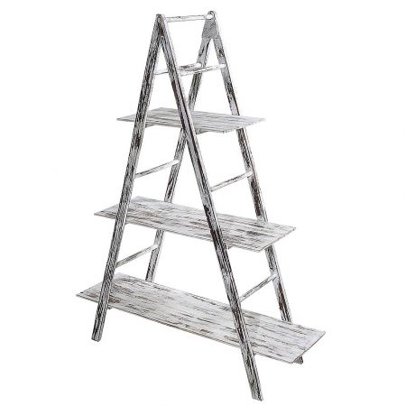 Διακοσμητική Σκάλα-Ραφιέρα Ξύλινη 150x100x38cm