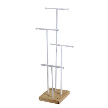 Σταντ για κοσμήματα με ξύλινη βάση 14,5x50cm