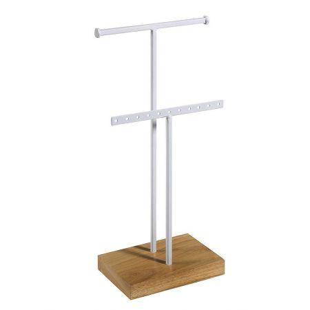 Σταντ για κοσμήματα με ξύλινη βάση 14,5x32cm