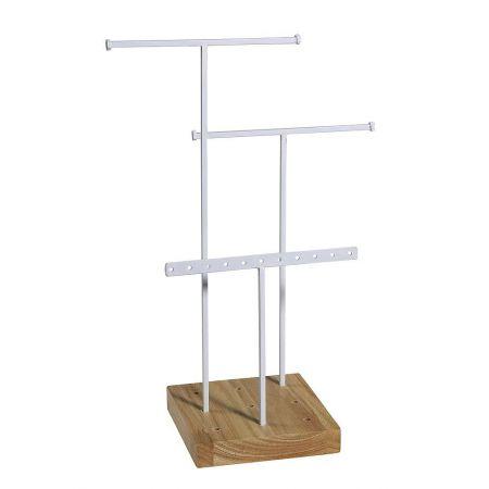 Σταντ για κοσμήματα με ξύλινη βάση 14.5x28cm