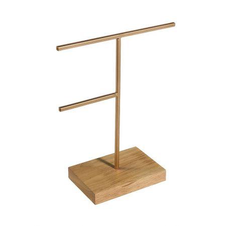 Σταντ για κοσμήματα με ξύλινη βάση 25x20cm