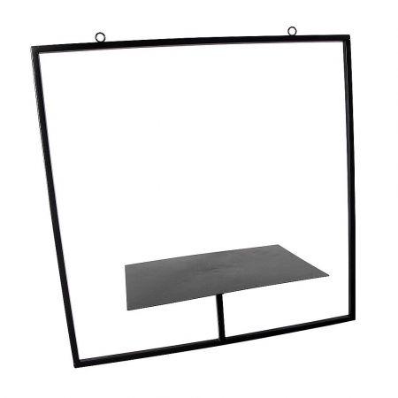 Κρεμαστό μεταλλικό ράφι Μαύρο 50x50x20cm