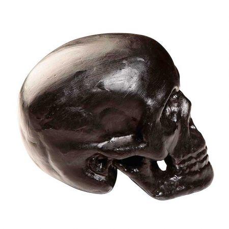 Διακοσμητικό κρανίο - νεκροκεφαλή Μαύρο 20x16 cm