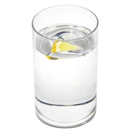 Διακοσμητικό ποτήρι με νερό - απομίμηση 6.5x10.5cm