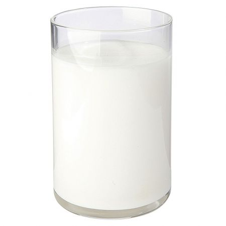 Διακοσμητικό ποτήρι με γάλα - απομίμηση 10.5cm