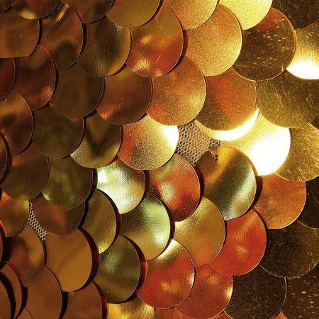 Ύφασμα φόντο με πούλιες - παγιέτες Χρυσό 125cm