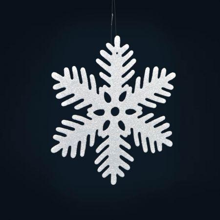 Σετ 3τχ Διακοσμητικές Χριστουγεννιάτικες νιφάδες χιονιού 28cm