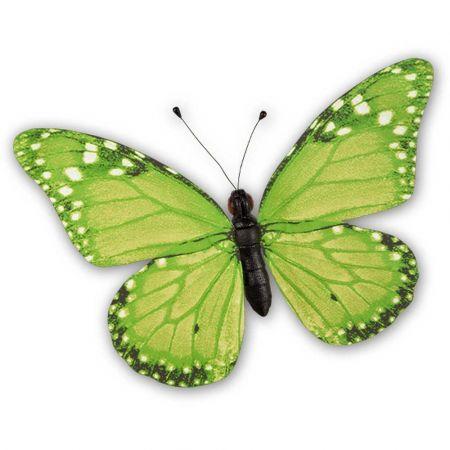 Διακοσμητική πεταλούδα PVC πράσινη, 80x60 cm