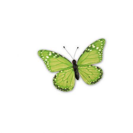 Διακοσμητική πεταλούδα PVC πράσινη, 20x15 cm