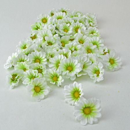 Σετ 60τχ mini διακοσμητικά άνθη Λευκά 4cm