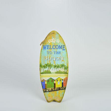 Διακοσμητική σανίδα Surf-Welcome to the Beach 20x50cm