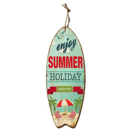 Διακοσμητική σανίδα Surf - Summer Holiday 78x30cm