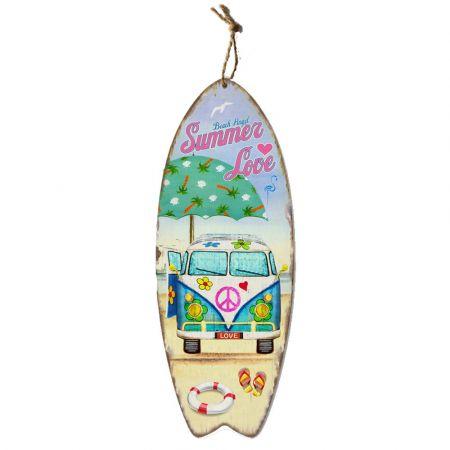 Διακοσμητική σανίδα Surf-  Summer Love 78x30cm