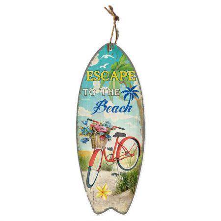 Διακοσμητική σανίδα Surf- Escape to the Beach 30x78cm
