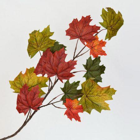 Διακοσμητικό κλαδί με φύλλα Σφενδάμου 90cm
