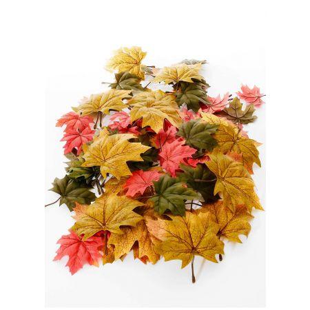 Σετ 36τχ Διακοσμητικά φθινοπωρινά φύλλα Σφενδάμου 10-15cm