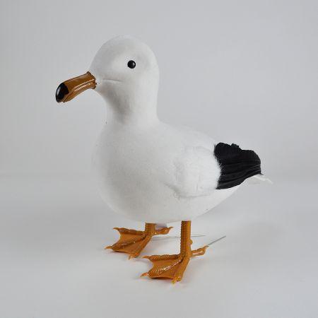 Διακοσμητικός γλάρος όρθιος Λευκό - Μαύρο 35cm