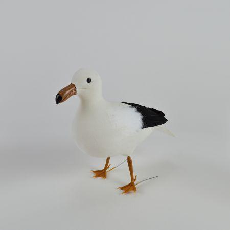 Διακοσμητικός γλάρος όρθιος Λευκό - Μαύρο 22x9x20cm