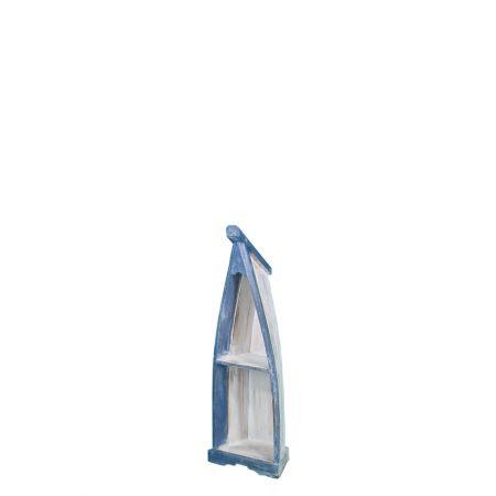 Διακοσμητική βάρκα-ραφιέρα Μπλε-Λευκή 100cm