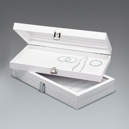 Δίσκος παρουσίασης για κοσμήματα Λευκό 37x21x5cm