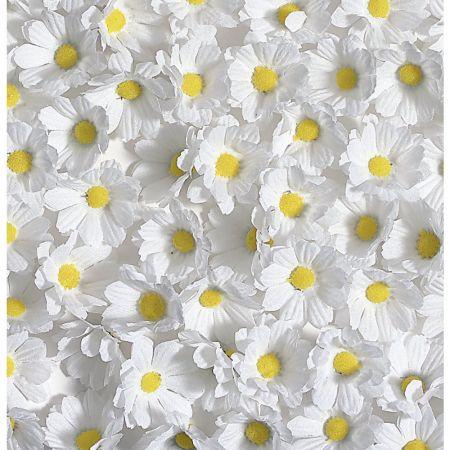 Σετ 72τχ μικρά άνθη μαργαρίτας λευκά, 5cm