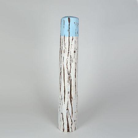 Διακοσμητικός πυλώνας λιμανιού Λευκό - Γαλάζιο 90cm
