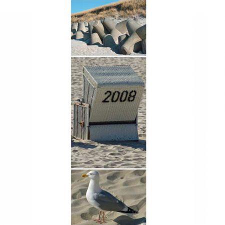 Διακοσμητική καλοκαιρινή αφίσα με Παραλία 60x180cm