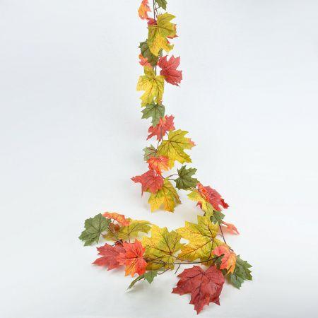 Διακοσμητική γιρλάντα φθινοπωρινή με φύλλα, 180cm