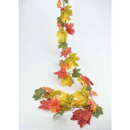 Διακοσμητική γιρλάντα φθινοπωρινή με φύλλα 180cm