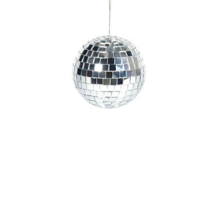 Διακοσμητική Disco μπάλα Ασημί 15cm