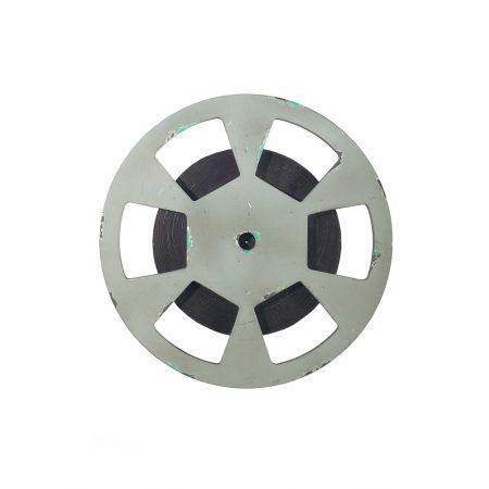 Διακοσμητικό καρούλι ταινίας Ασημί 28cm