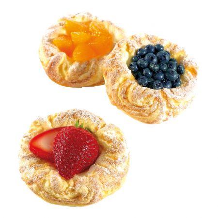 Σετ 3τχ Διακοσμητικά ταρτάκια με φρούτα, 9x3cm