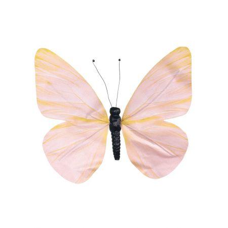 Διακοσμητική πεταλούδα Πορτοκαλί, 25cm