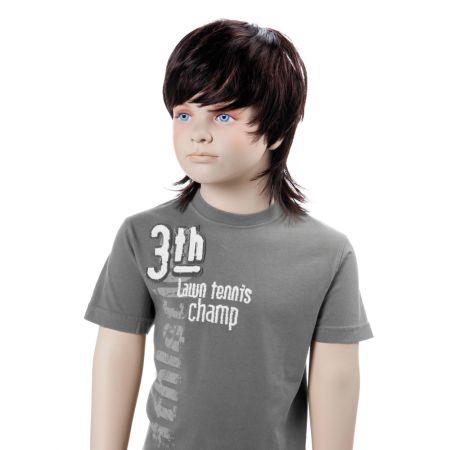 Παιδική Περούκα FRED Σκούρο Καστανό