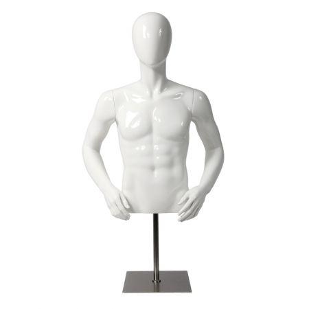 Ανδρικό Μπούστο Βιτρίνας με Αφαιρετικό Κεφάλι 86cm