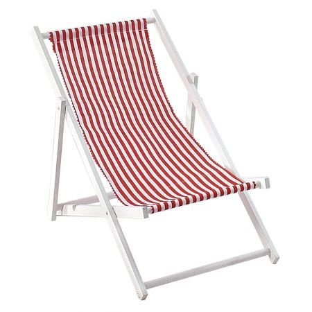 Διακοσμητική καρέκλα παραλίας για βιτρίνα Κόκκινο - Λευκό 50cm