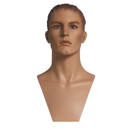 Διακοσμητικό Κεφάλι-Μπούστο Ανδρικό με Make-up 49cm