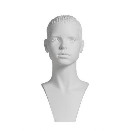 Διακοσμητικό Κεφάλι-Μπούστο Παιδικό Λευκό 38cm