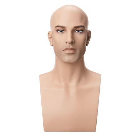 Διακοσμητικό Κεφάλι-Μπούστο Ανδρικό με Make-up 50cm