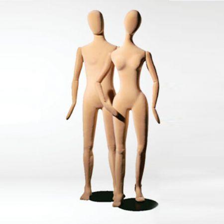 Ανδρική Εύκαμπτη Κούκλα Βιτρίνας Βελούδινη 182cm