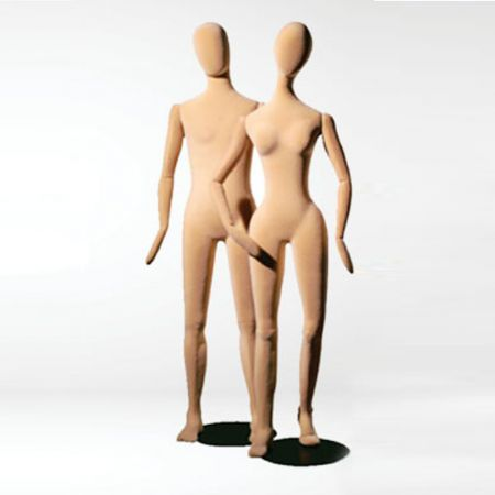 Γυναικεία Εύκαμπτη Κούκλα Βιτρίνας Βελούδινη 178cm