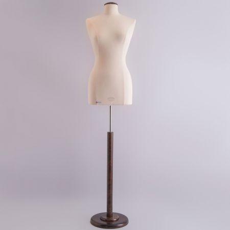 S/M Γυναικείο Μπούστο Ραπτικής με Καφέ Ξύλινη Στρογγυλή Βάση